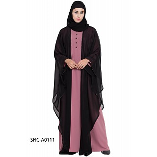 Kaftan Abaya with a attached layer