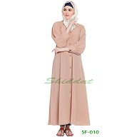 Front open abaya- Peach