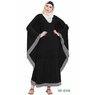 Arabian Kaftan - Black with white strip