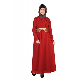 Exclusive Golden Rose Abaya