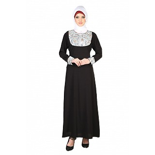 Exclusive Round Shape Black Abaya