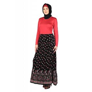 Stylist Wrinkled Skirt Pink Abaya