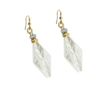 Partywear White Earrings