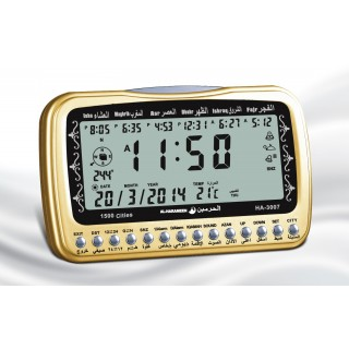 Table Azan Clock-Golden