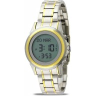 Azan watch for men- Gold and silver colored