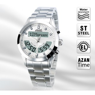 Azan Watch silver colored