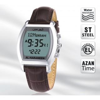 Azan Watch in Black Leather Band