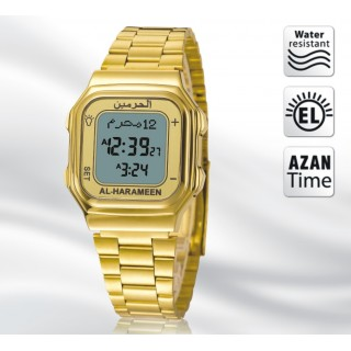 Al-Harameen Golden Azan Watch