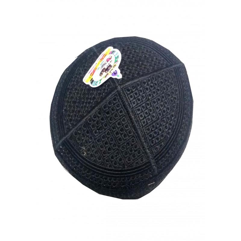 Muslim Prayer Cap- Black Colored Pakistani Owise Cap- online in india 1abff17733a