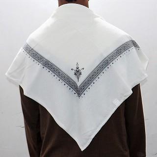 Haji Rumal- White and Black