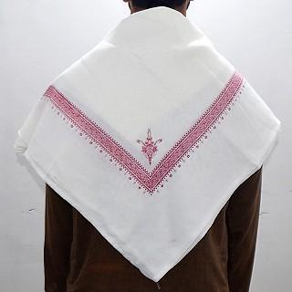 Haji Rumal- White and Red