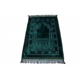 Imported premium Janamaz / prayer mat in Velvet- Green