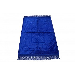 Imported premium Janamaz / prayer mat in Velvet- Royal Blue
