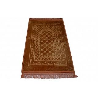 Imported premium Janamaz / prayer mat in Velvet- Brown
