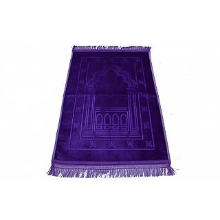 Imported premium Janamaz / prayer mat in Velvet- Purple