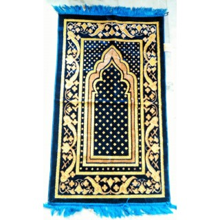 Blue Velvet Janamaz- Prayer Mat