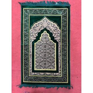 Green Velvet Janamaz- Prayer Mat