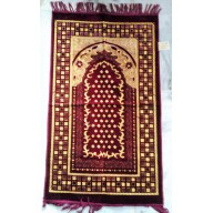 Janamaz, prayer mat- maroon coloured Velvet