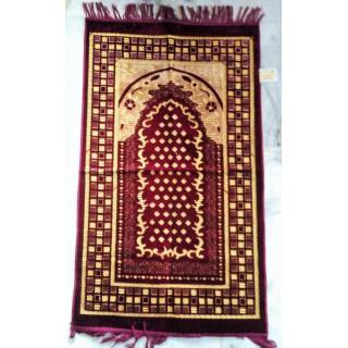 Janamaz, prayer mat- maroon coloured Velvet