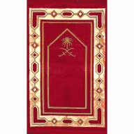 Janamaz / prayer mat in Velvet - Red