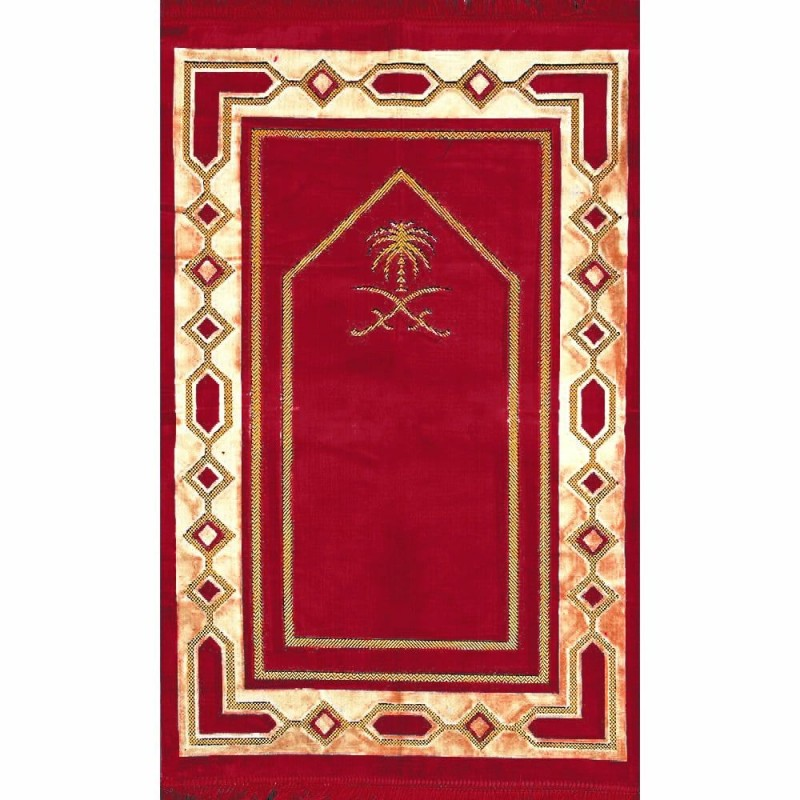 Janamaz Online Islamic Prayer Mat Red Velvet In India