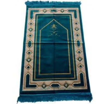 Janamaz / prayer mat in Velvet - Sea Blue