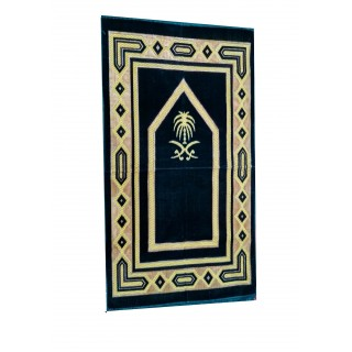 Janamaz / prayer mat in Velvet - Blue