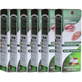 Marjaan Herbal Tooth Powder - 6 Pack