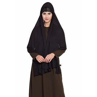 Premium jersy Hijab stole-Black color