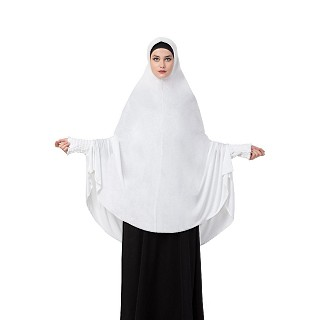 Premium Instant Hijab in Jersey fabric- White Color