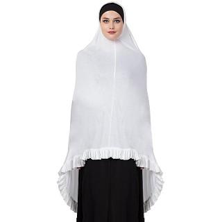 Premium Instant Hijab - White Color