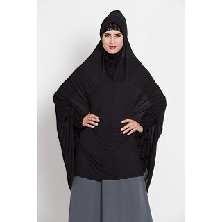 Premium Instant Hijab- Black