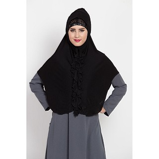 Premium Instant Hijab Jersey fabric- Black