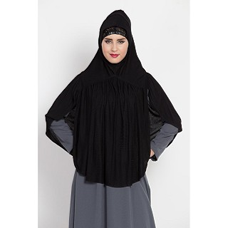 Premium Instant Hijab - Black Color