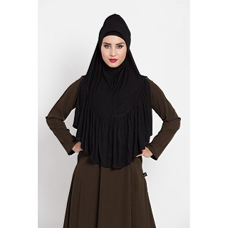 Premium Instant Hijab in jersey fabric - Black Color