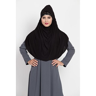 Instant Hijab in jersey fabric - Black Color