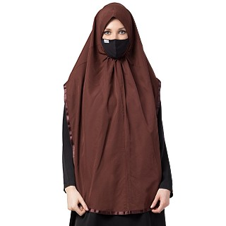 Instant Ready-to-wear Hijab - Brown
