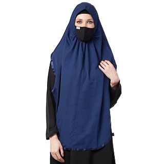 Instant Ready-to-wear Hijab - Navy Blue