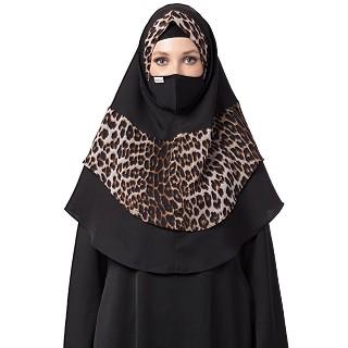 Instant Ready-to-wear Hijab - Leopard Print