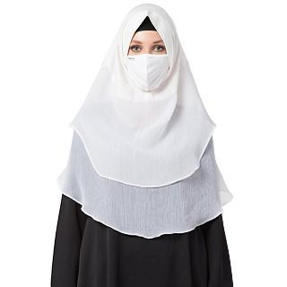 Instant Ready to wear Hijab - Plain White