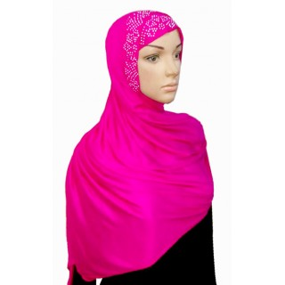 Hijab with Diamond Stone-Pink