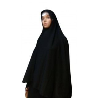 Jumbo Prayer Hijab Large-Black