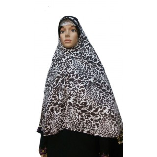 Jumbo Prayer Hijab Mini-Cat Print