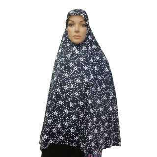 Jumbo Prayer Hijab Large-Star Print