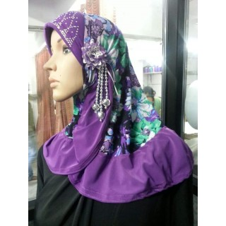 Designer Makhna Hijab in Purple