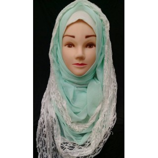 Fancy lace chiffon hijab