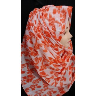 Orange Modest Hijab- cotton hijab