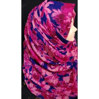 Pink Blossoms Hijab -  Cotton Fabric