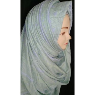 Light Green color Cotton hijab
