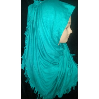COTTON JERSEY HIJAB SCARF - Turquoise